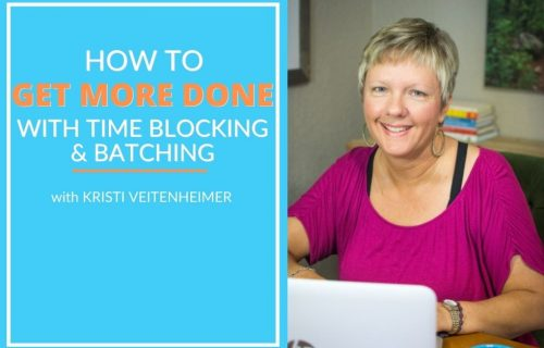 Kristi Veitenheimer discusses time blocking and task batching