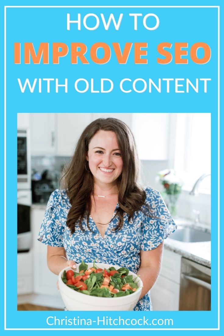 Photo of Liz Marino on how to improve seo with old content